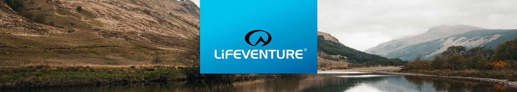 Lifeventure logo and a lake in the background
