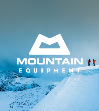 Two people wearing and equipped with the Mountain Equipment gear on snow mountain