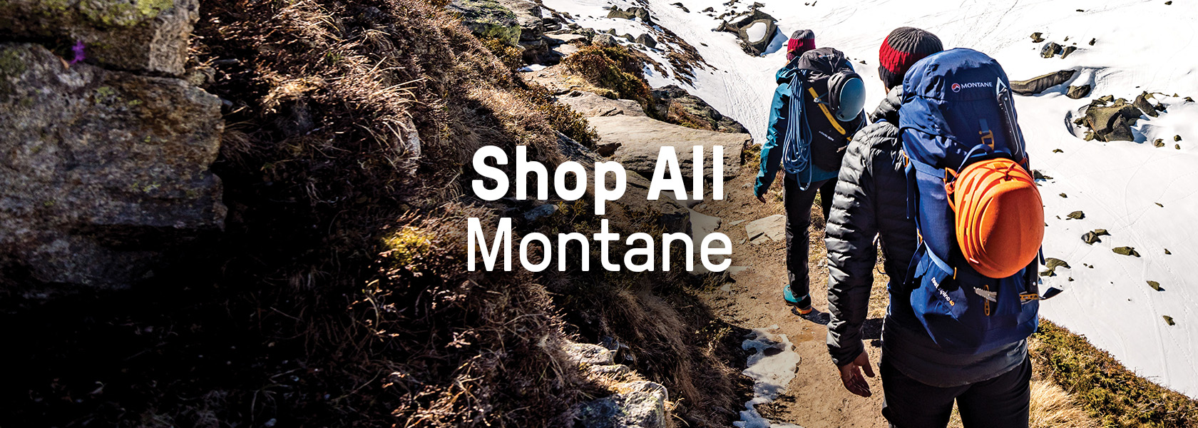 Couple trekking with Montane gear