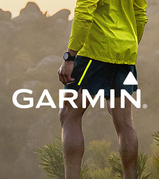 Two Garmin watches and a man using Garmin watch.