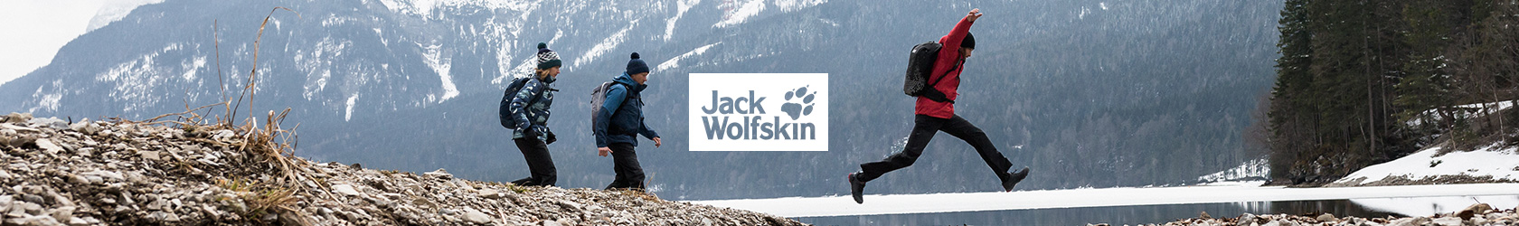 People enjoying outdoors, wearing Jack Wolfskin gear