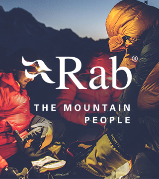 People in the dark using and wearing Rab gear.