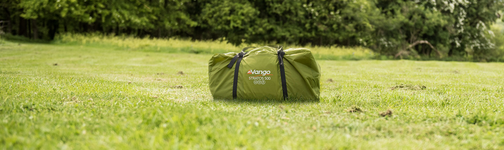 Vango Tent Packed Up In Middle Of Field