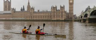 Two men Canoeing on the Thames
