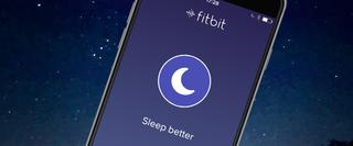 Track your sleep fitbit on a screen of a mobile