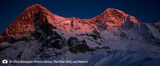 Landscape photo of the Eiger and Moench
